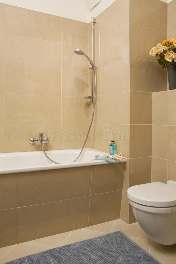 liten badrum royaltyfri fotografi