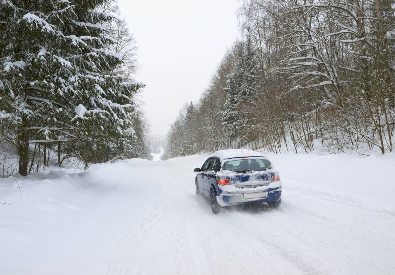 Vinterväg Fotografering för Bildbyråer