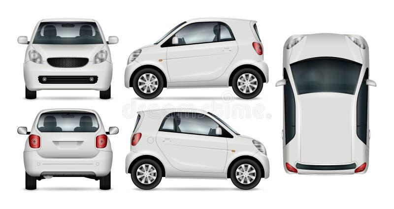 Liten bilvektormodell stock illustrationer