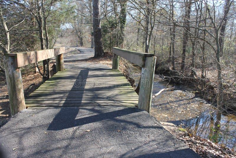 Liten bro på parkera royaltyfri foto