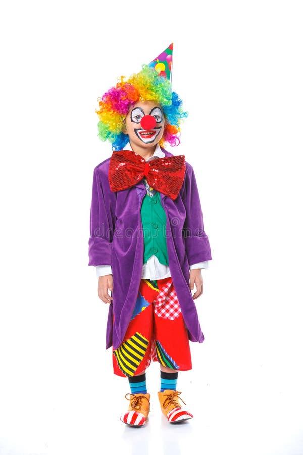 Liten clown arkivfoto