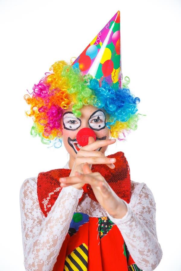 Liten clown royaltyfria foton