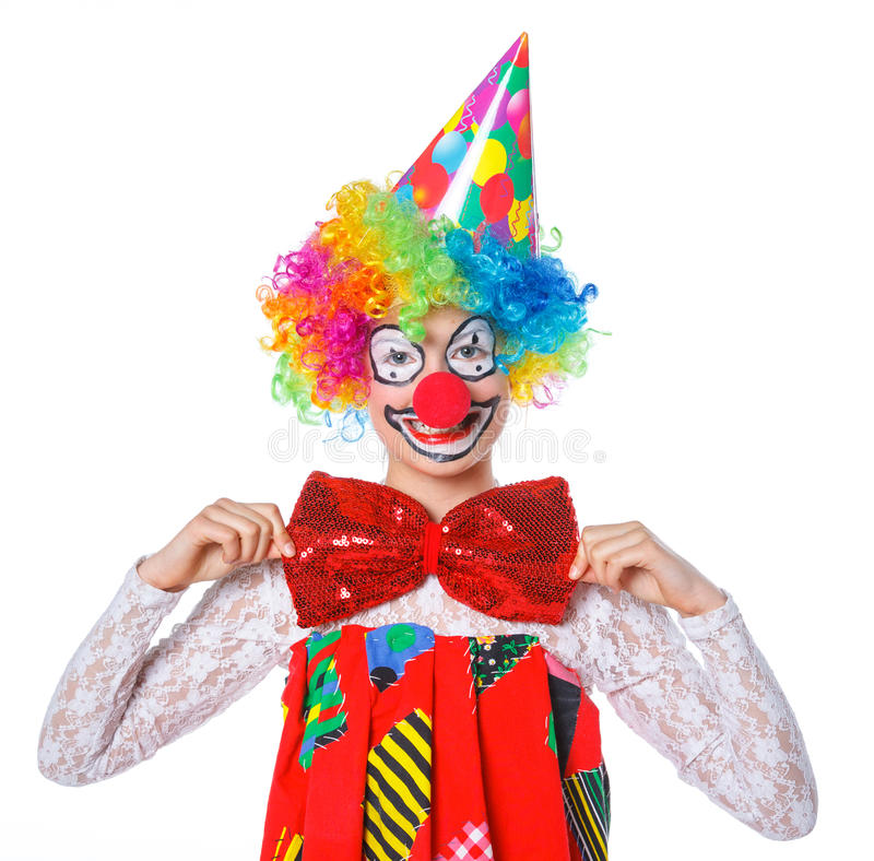 Liten clown royaltyfria bilder