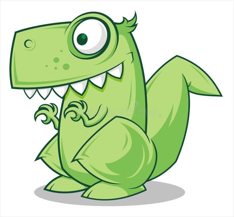 Liten dinosaur vektor illustrationer
