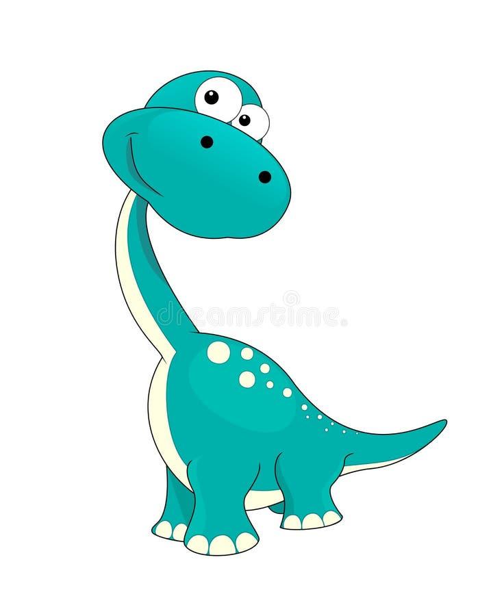 Liten dinosaur royaltyfri illustrationer