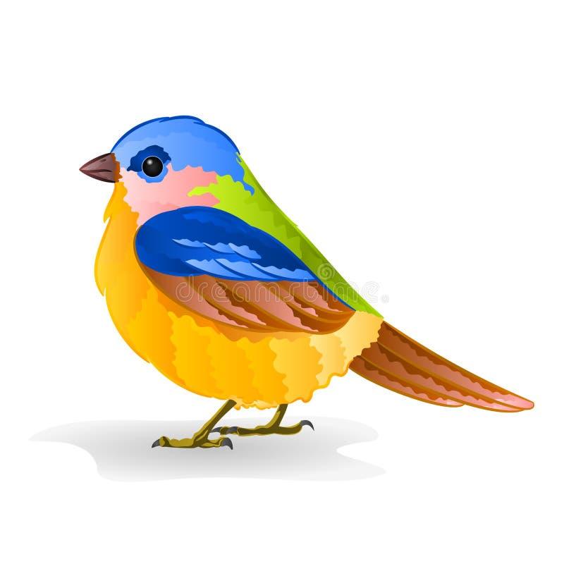 Liten fågelmesvektor royaltyfri illustrationer