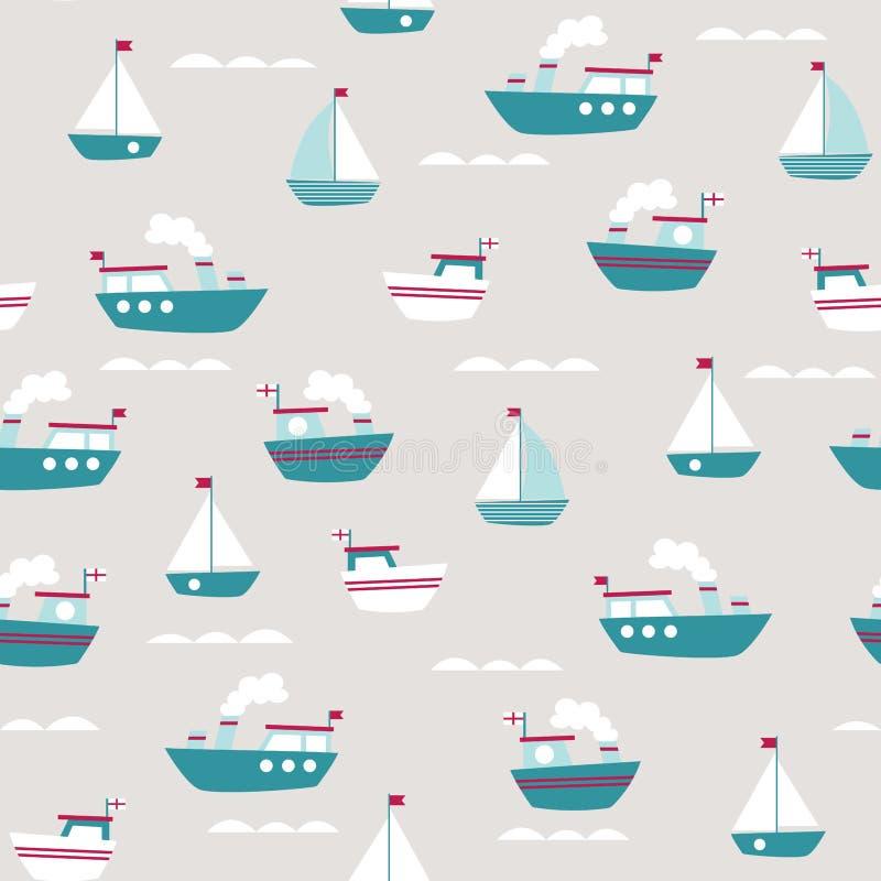 Liten fartygmodell vektor illustrationer