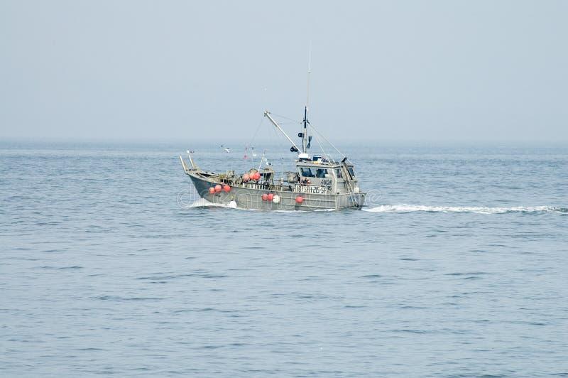 Liten fiskebåt på San Francisco Bay royaltyfri bild