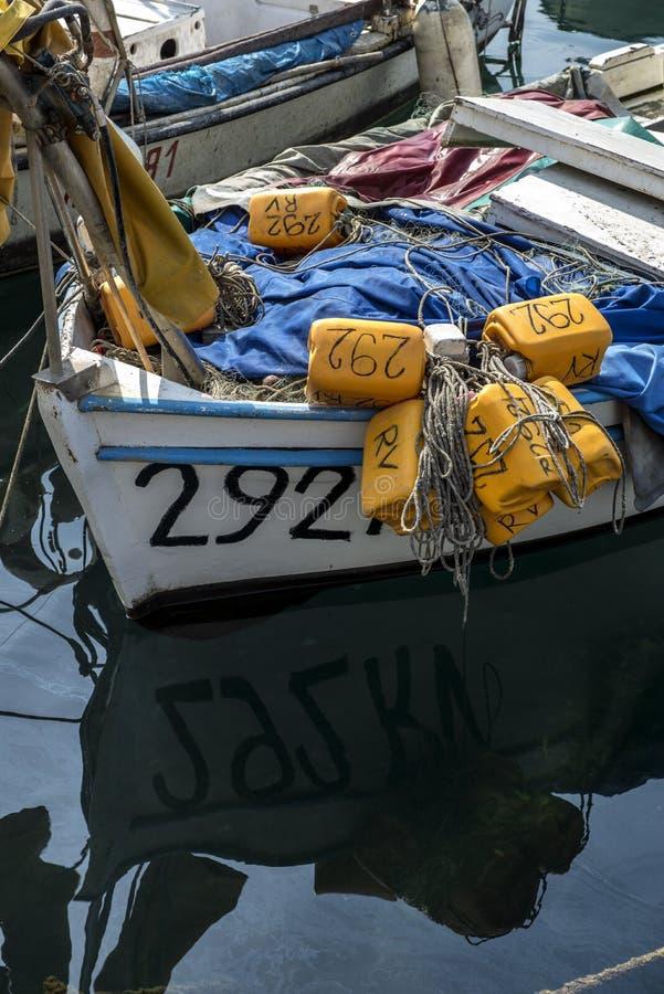 Liten fiskebåtdetalj royaltyfri bild