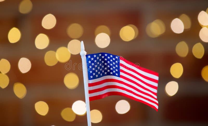 Liten flagga av Amerikas förenta stater arkivbild