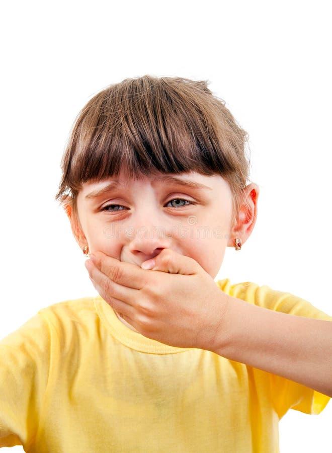 Liten flickakänseltandvärk arkivfoton