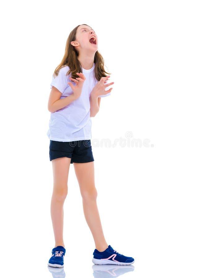 Liten flickaskrina fotografering för bildbyråer