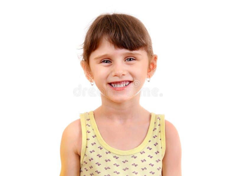 liten flickastående royaltyfria foton