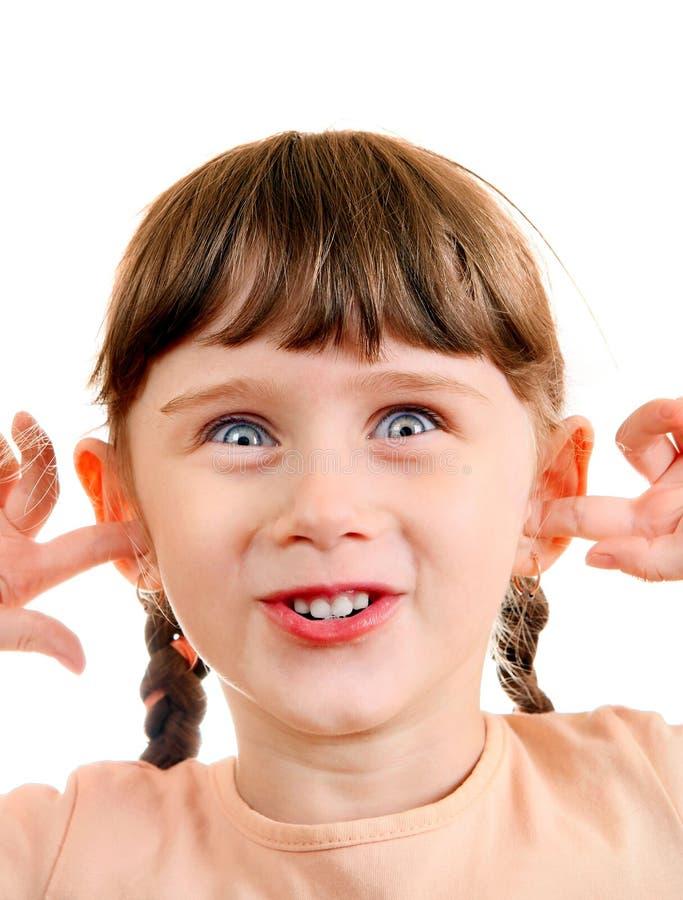 liten flickastående arkivfoton