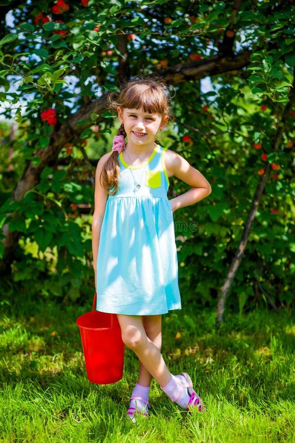 liten flickastående royaltyfri foto