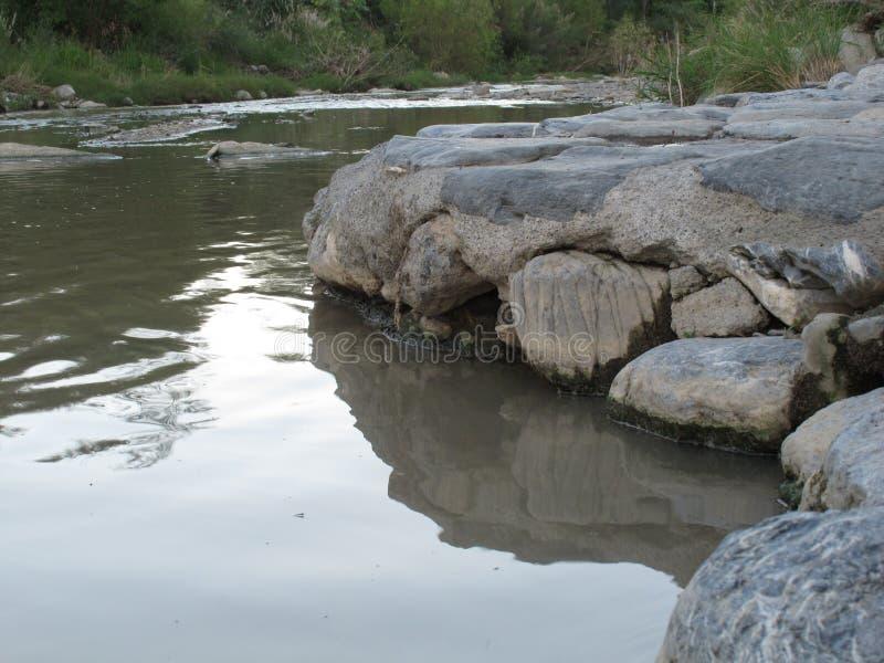 Liten flodbank arkivbild