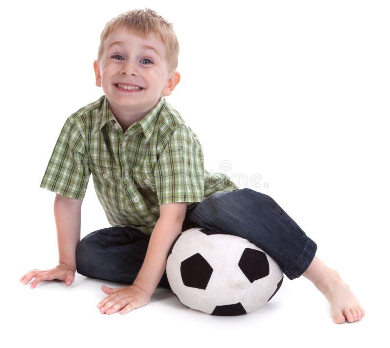Download Liten fotboll för 2 pojke arkivfoto. Bild av leende, lycka - 19776938