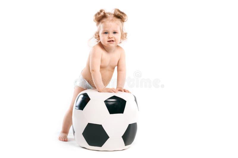 Liten fotbollvän arkivfoton