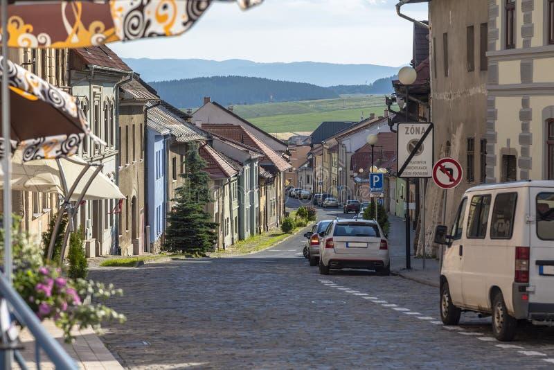 Liten gata i Levoca royaltyfri bild