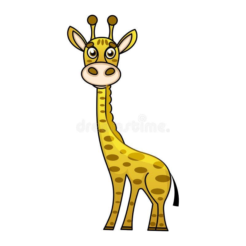 Liten giraff för gullig design för tecknad film moderiktig med stängda ögon vektor illustrationer
