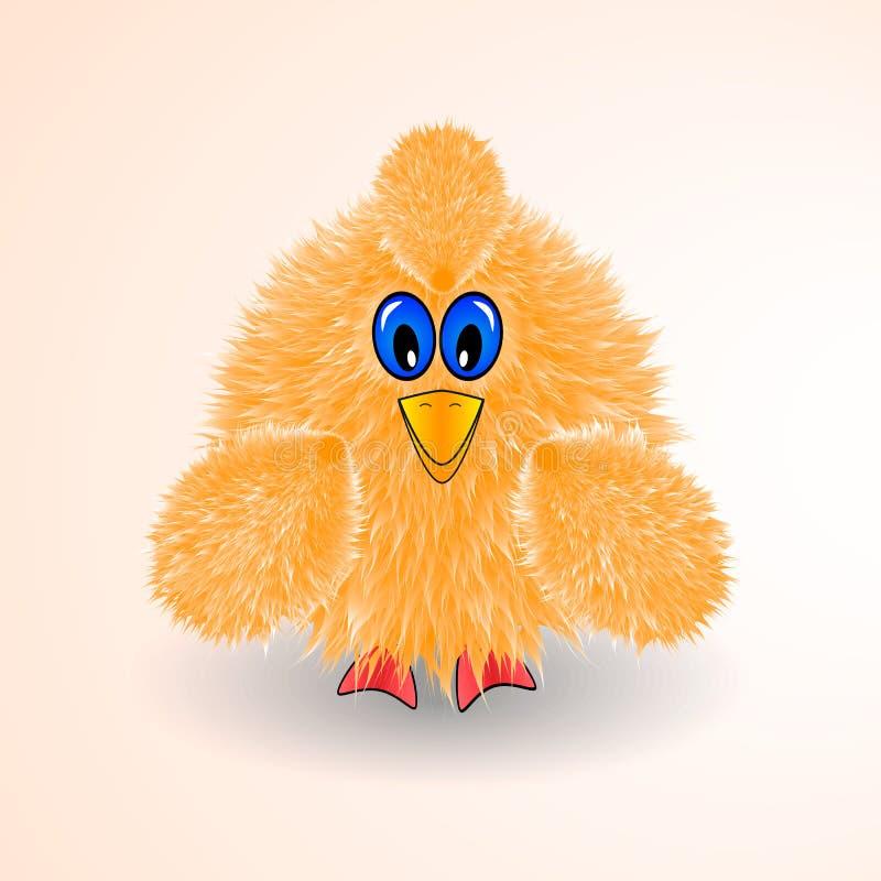 Liten gul fågel, höna, liten höna, symbol vektor illustrationer