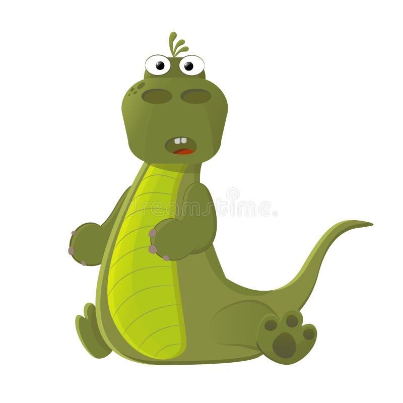 Liten gullig dinosaurie vektor illustrationer