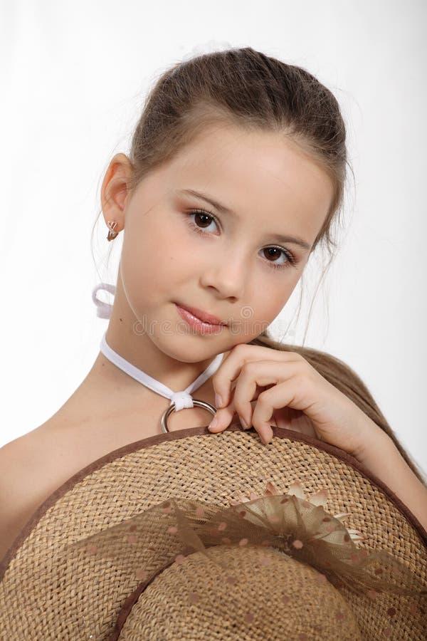 liten härlig flicka royaltyfri fotografi