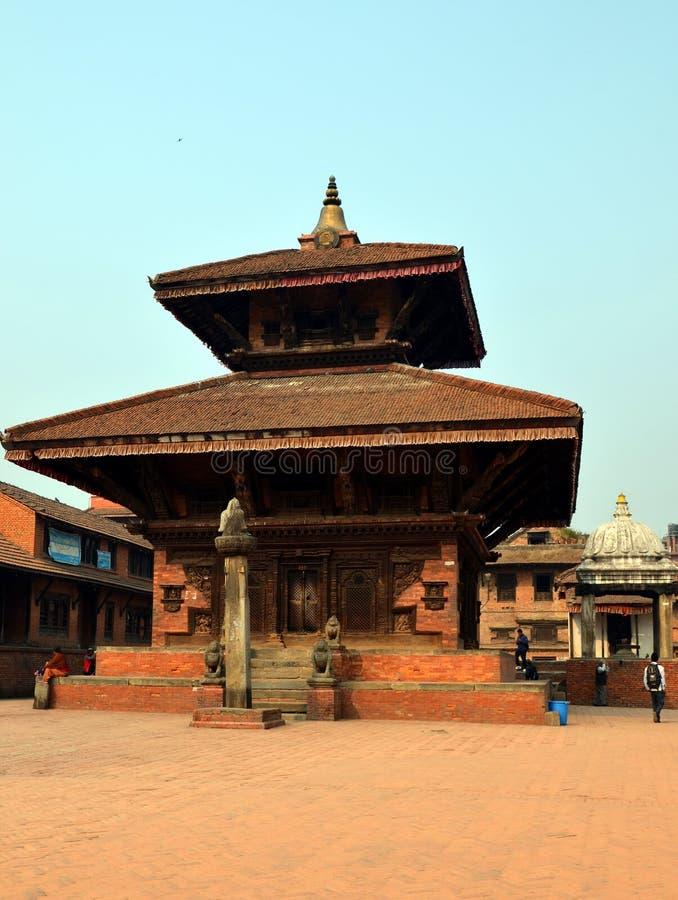 Liten hinduisk tempel i Patan arkivbild