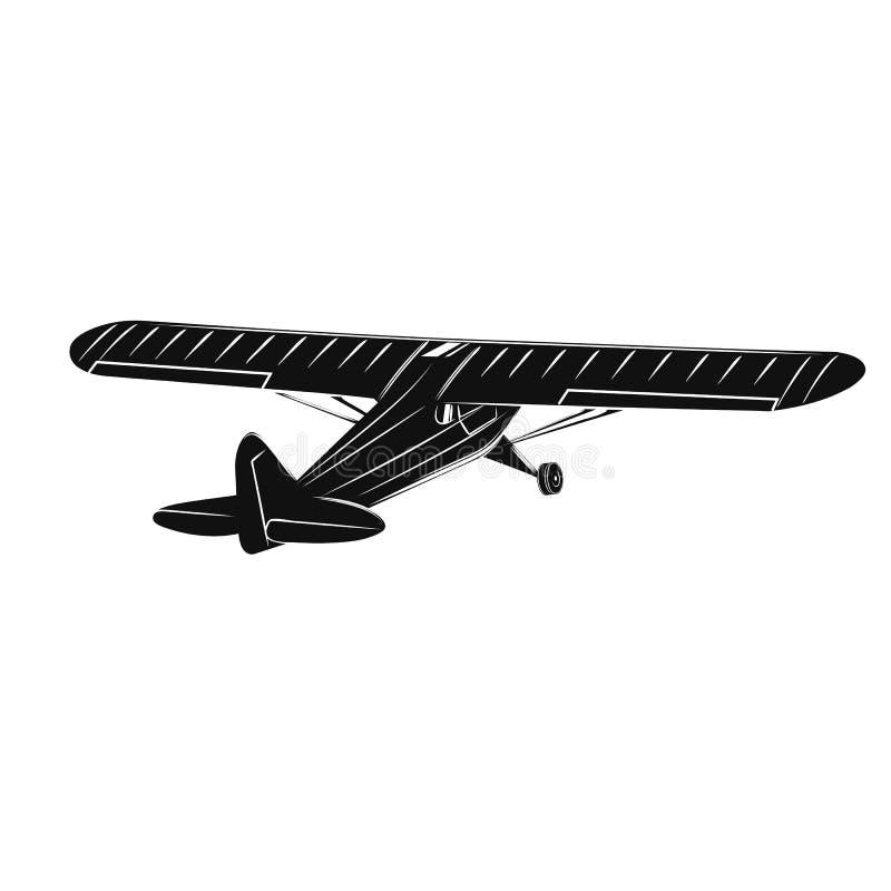 Liten illustration för plan vektor Framdrivit flygplan för enkel motor stock illustrationer