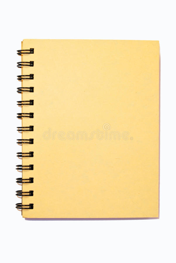 liten isolerad anteckningsbok arkivbild