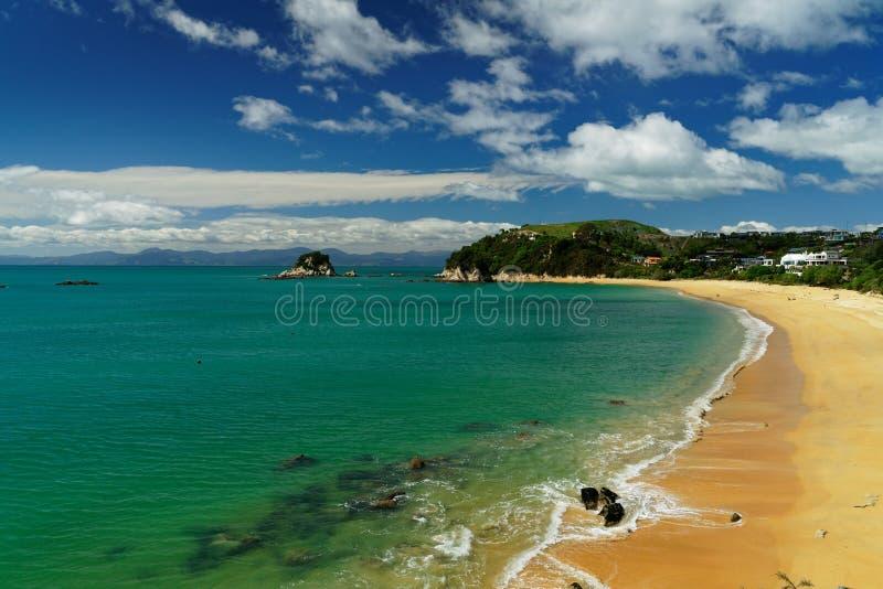 Liten Kaiteriteri strand, Nya Zeeland arkivfoton