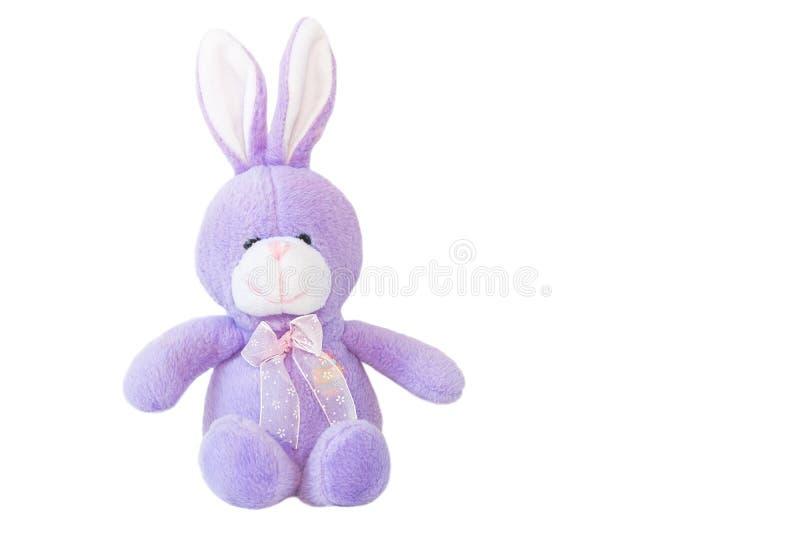 Liten kanindocka som göras från den mjuka torkduken royaltyfri foto
