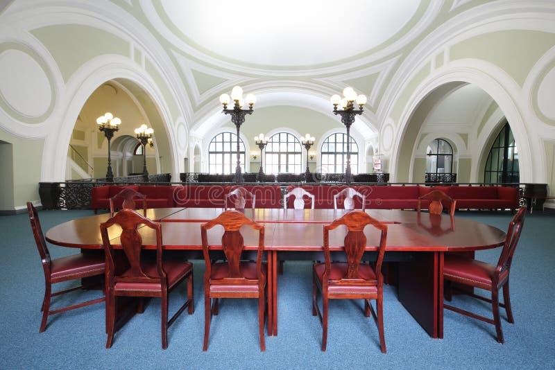 Liten konferenskorridor i kommers och industriell kammare av Ryssland royaltyfri bild