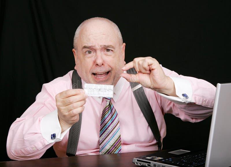 liten lönebesked för affärsman fotografering för bildbyråer