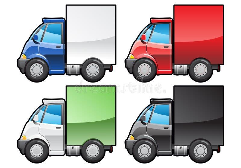 liten lastbil stock illustrationer