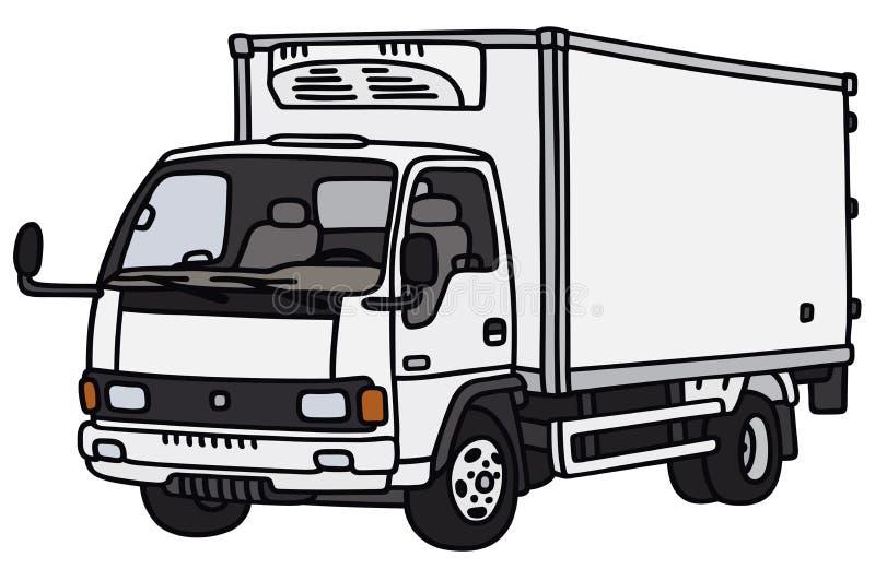 liten lastbil för leverans stock illustrationer