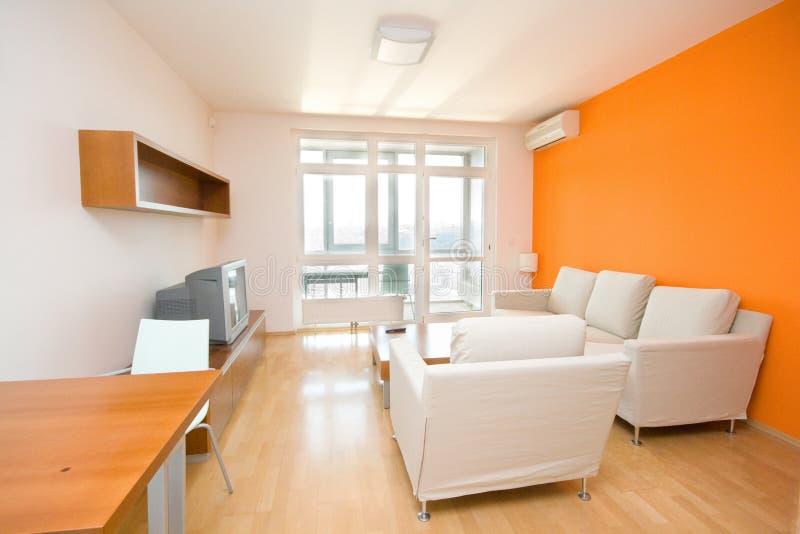 Liten modern lägenhet arkivbild