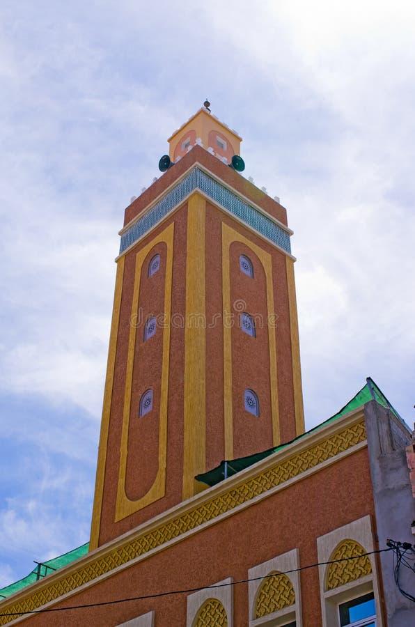 Liten moské i Marocko arkivbild