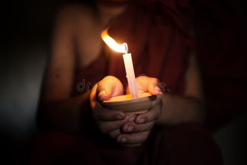 Liten munkvälsignelse royaltyfri fotografi