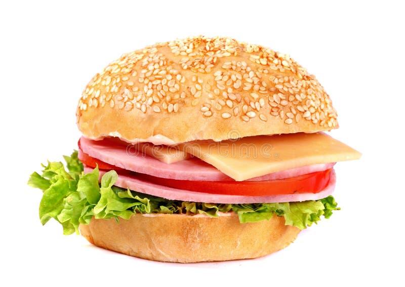 Download Liten ny hamburgare arkivfoto. Bild av mål, inget, läckert - 106837576