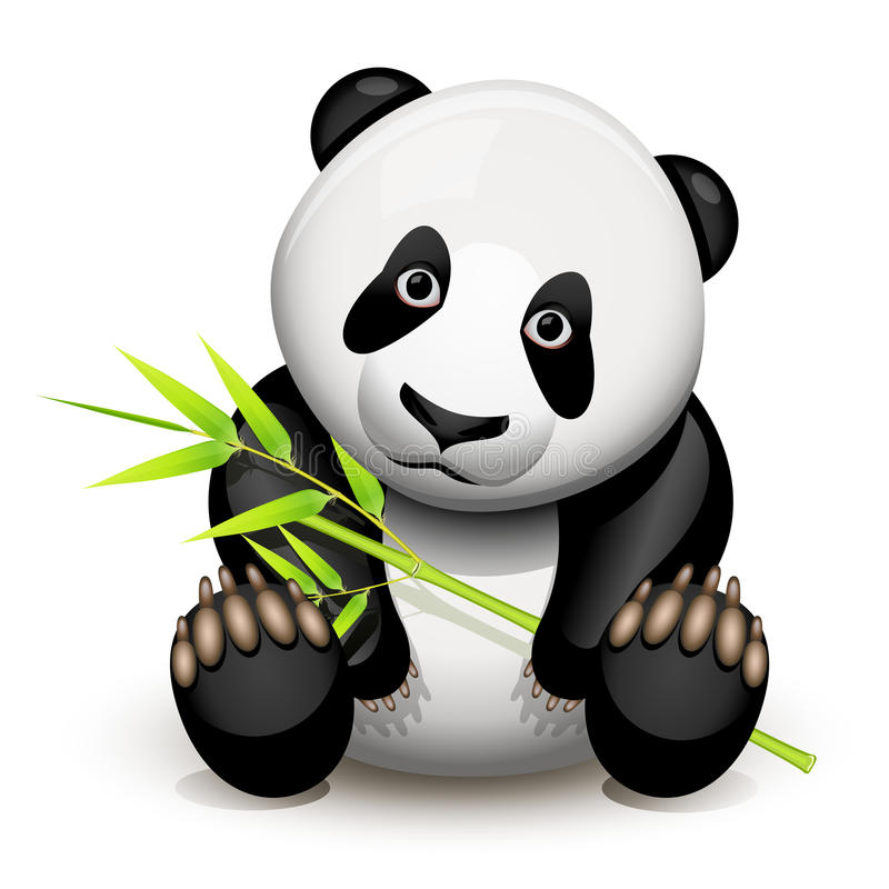 liten panda vektor illustrationer