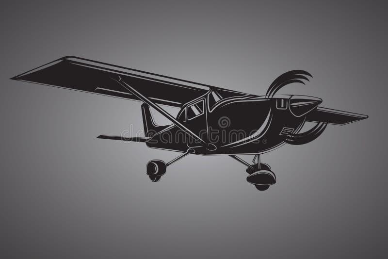 Liten plan illustration Framdrivit flygplan f?r enkel motor Luft turnerar wehicle stock illustrationer