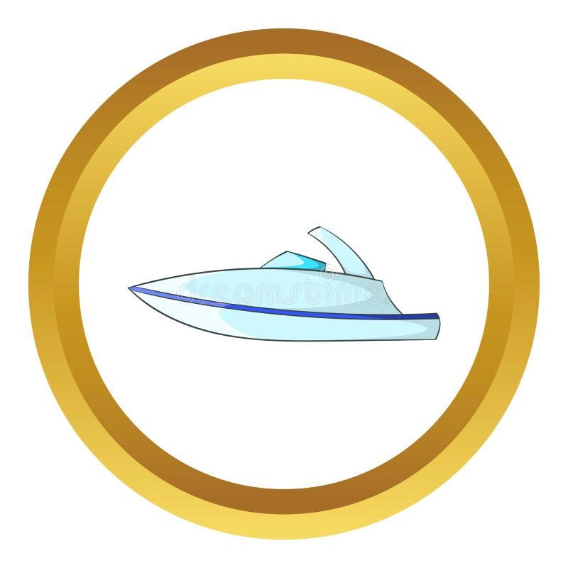 Liten powerboatsymbol royaltyfri illustrationer