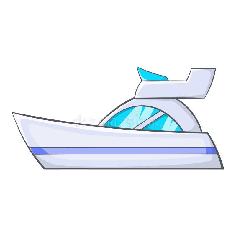 Liten powerboatsymbol, tecknad filmstil stock illustrationer