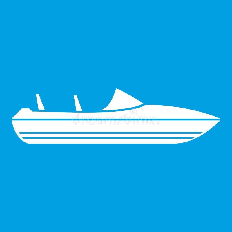 Liten powerboatsymbolsvit royaltyfri illustrationer