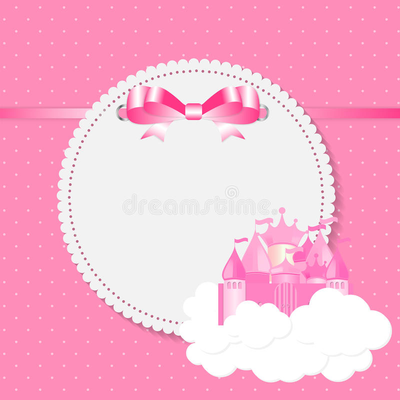 Liten prinsessa Background Vector Illustration royaltyfri illustrationer