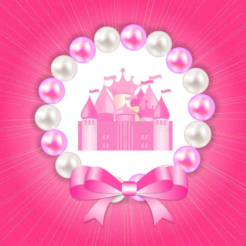 Liten prinsessa Background Vector Illustration stock illustrationer