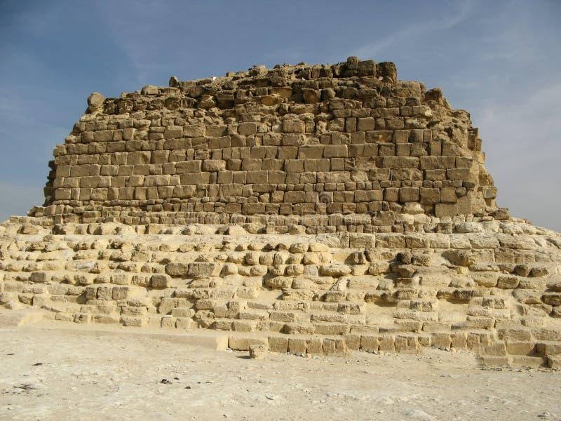 Liten pyramid, Giza royaltyfri bild