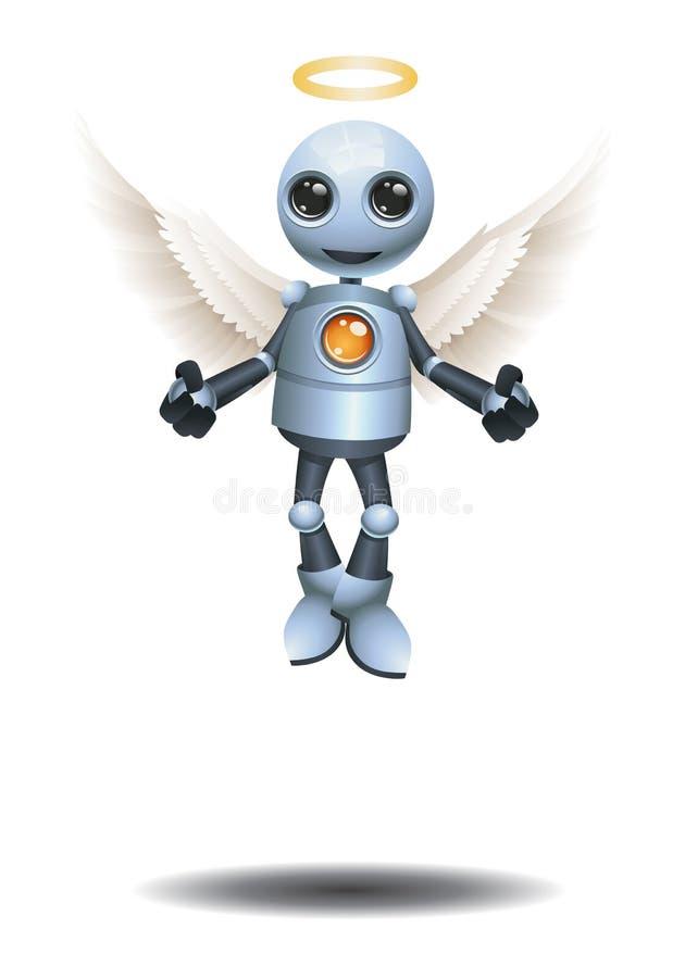 liten robot att bli en ?ngel vektor illustrationer