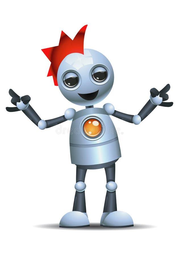 liten robot på punkrockdräkten royaltyfri illustrationer